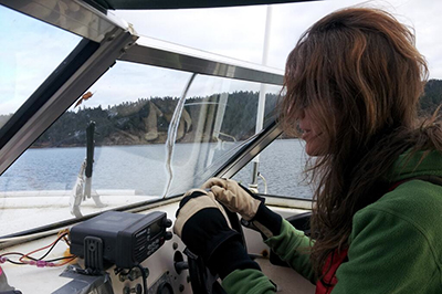 Misty at helm